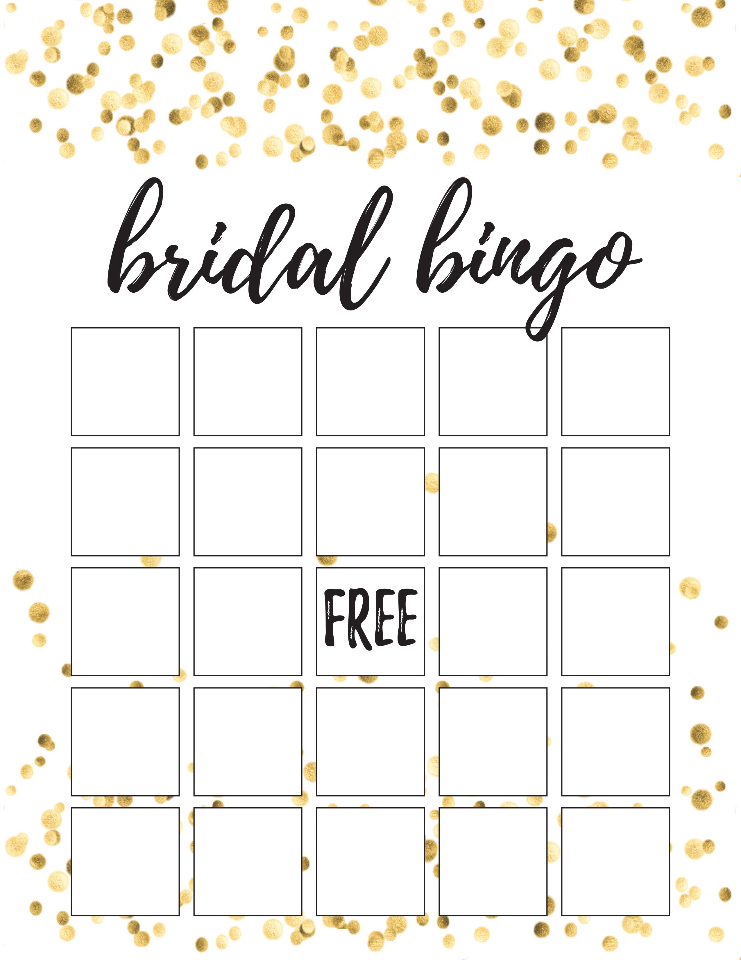 graphic regarding Free Printable Bridal Bingo named How towards Method a Bridal Shower + No cost Printable PDF List